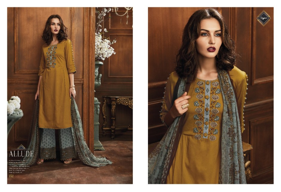 reyna allude beautiful fancy salwaar suits catalog