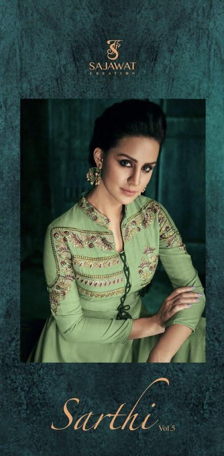 sajawat creations sarthi vol 5 colorful fancy salwaar suits collection