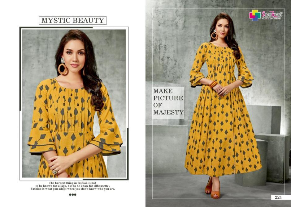 sanskruti mills suhana fancy ready to wear kurtis at reasinable rate