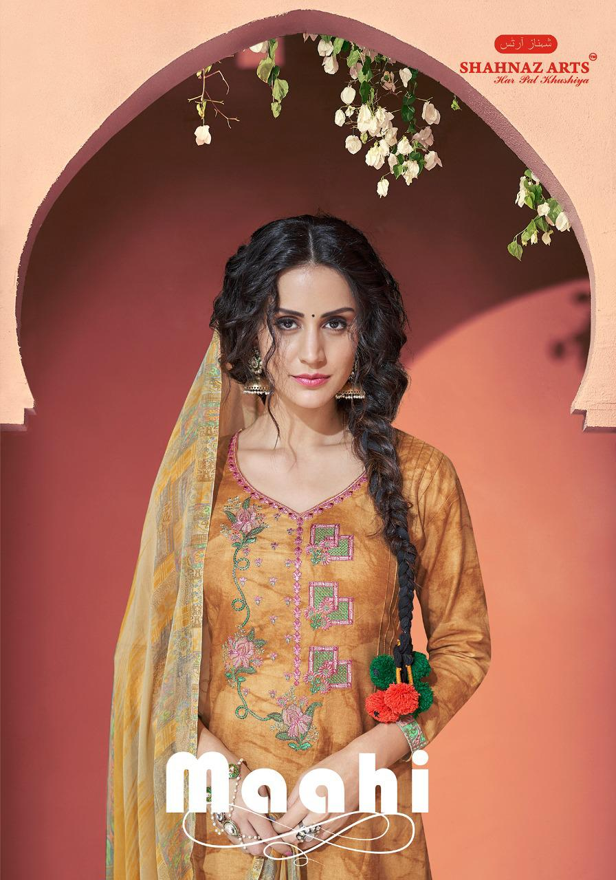 shahnaz arts maahi colorful fancy salwaar suits catalog at reasonable rate
