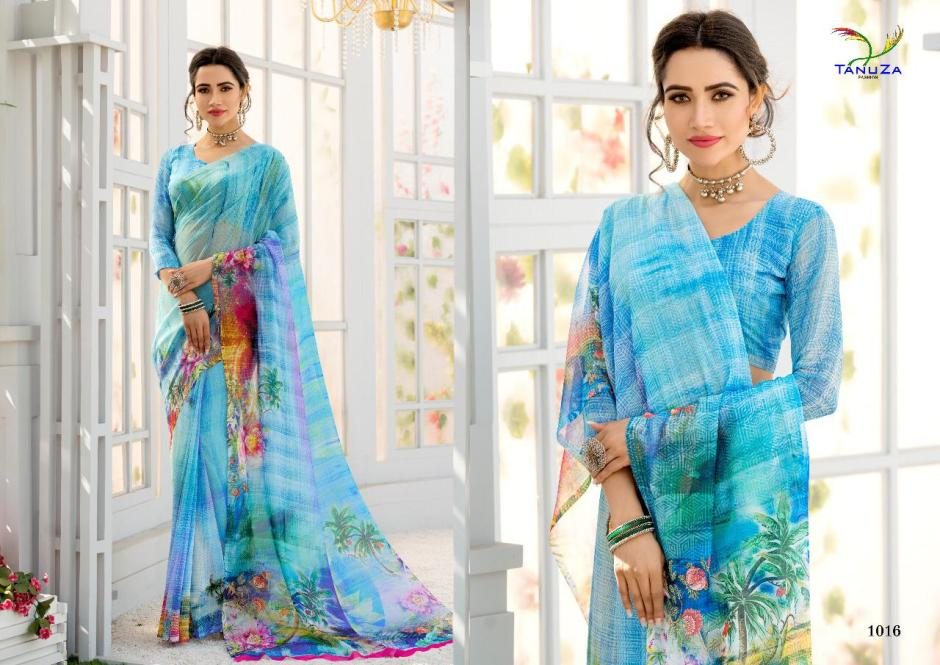 tanuza kisu colorful collection of sarees at reasonable rate