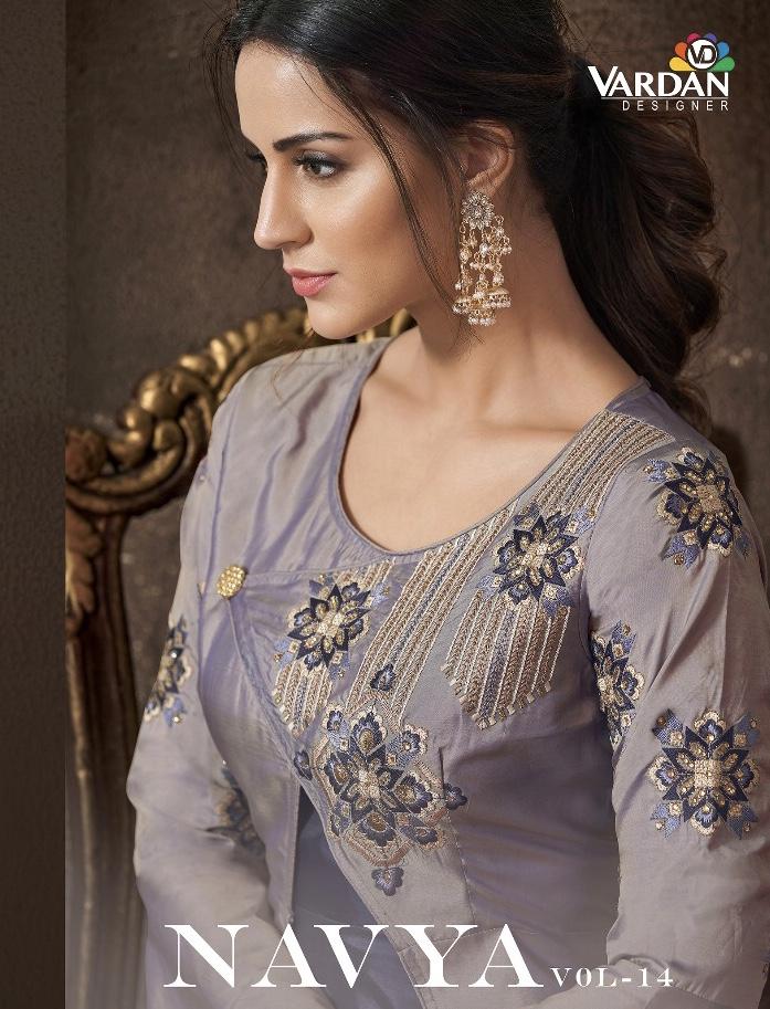 vardan designer navya vol 14 colorful fancy collection of salwaar suits