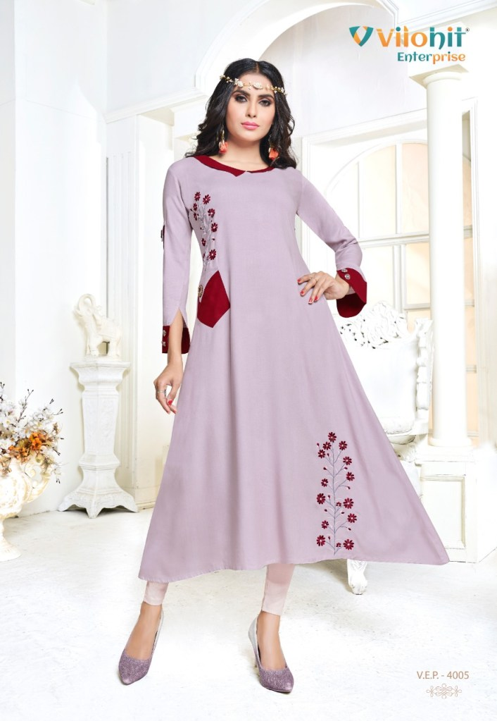 vilohit enterprise payal vol 4 colorful fancy ready to wear kurtis catalog