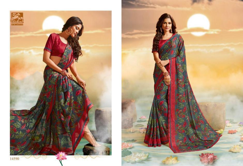 vishal sarees zainab colorful fancy collection of sarees