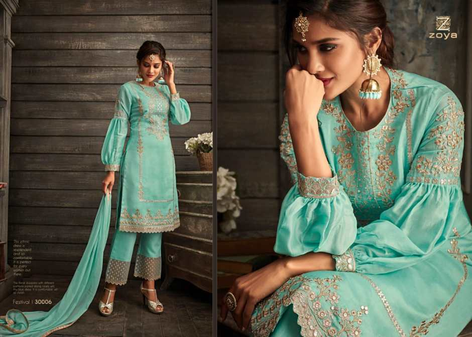 zoya festival colorful designer collection of outfits