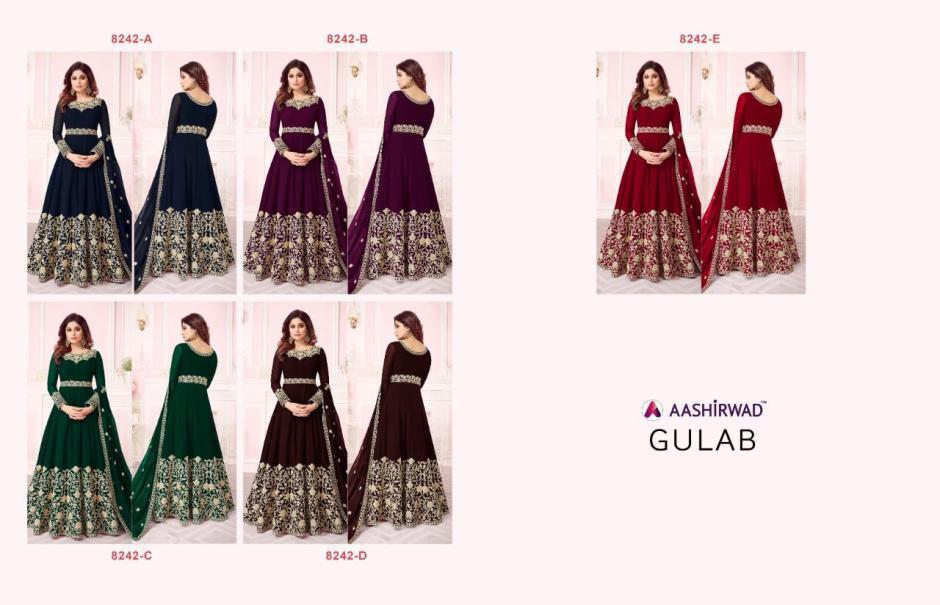 Aashirwad creation gulab heavy embroidered festival wear lehenga collection