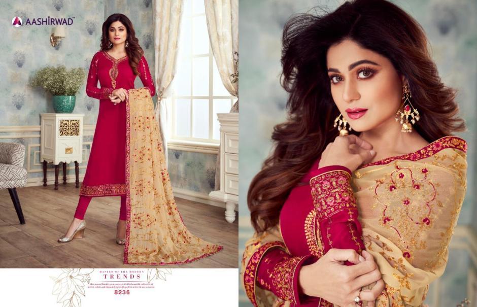 Aashirwad mahira vol 2 heavy embroidered salwar kameez catalog at wholesale rate