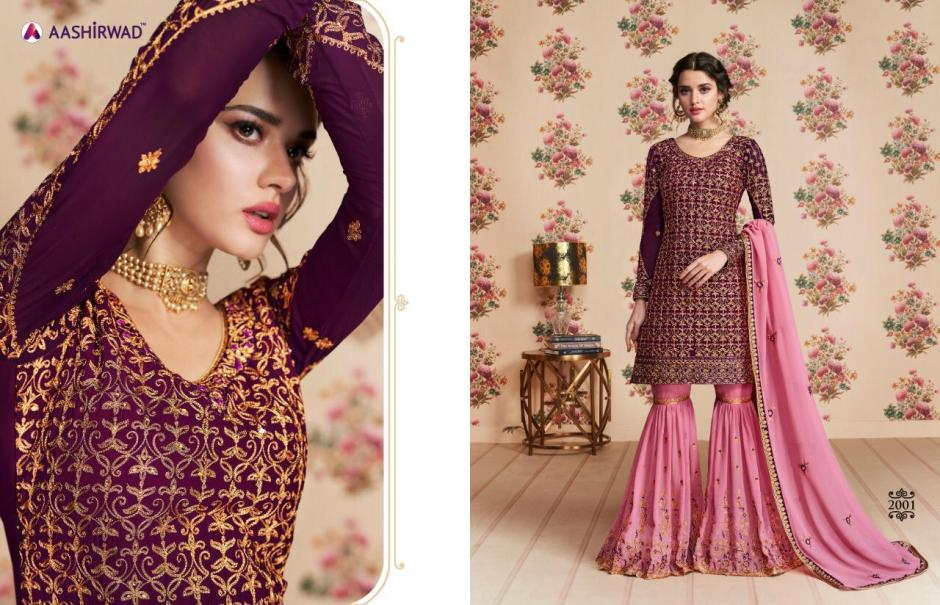 aashirwad nafiza colorful designer collection of outfits