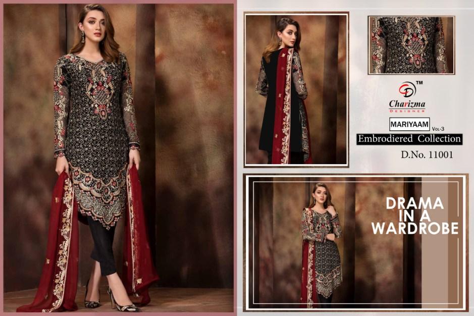 Charizma designer mariyaam vol 3 heavy embroidered pakistsni salwar kameez collection