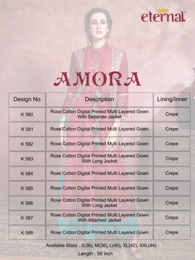 Eternal amora long elegant party wear straight gown catalogs