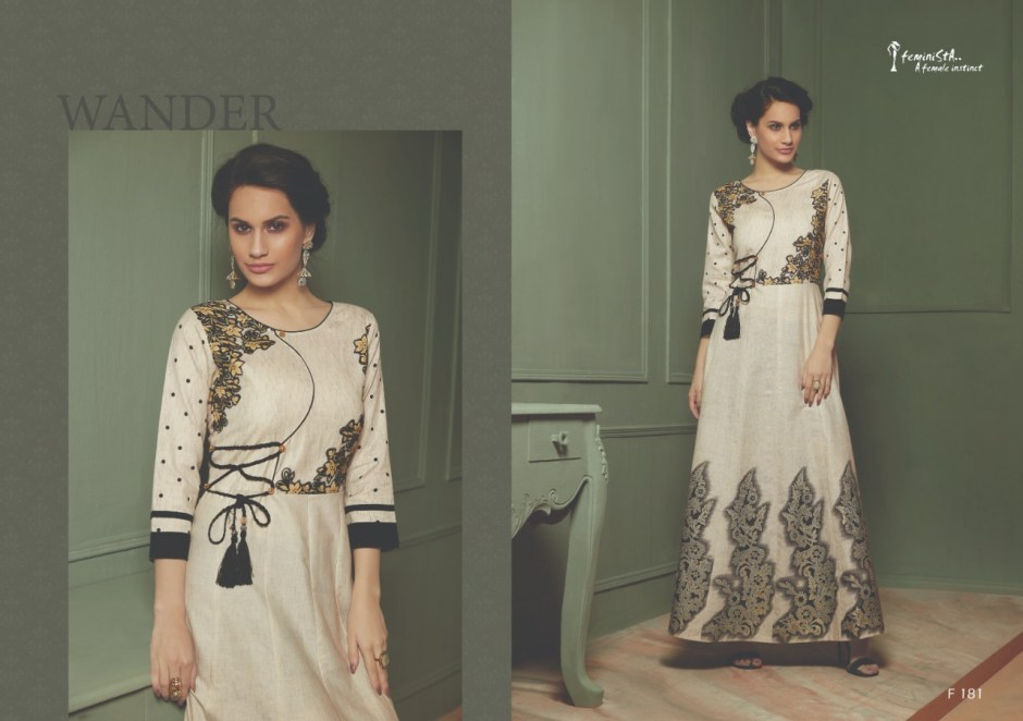 feminista gracy colorful fancy collection of kurtis  at reasonable rate