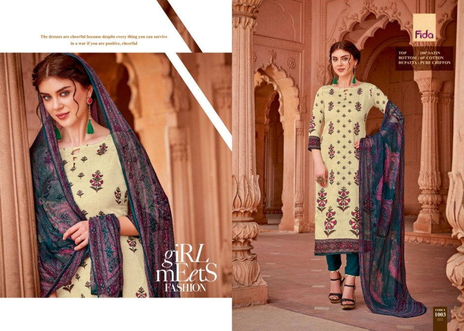 Fida International Ishani Summer Collection Salwar Kameez Collection