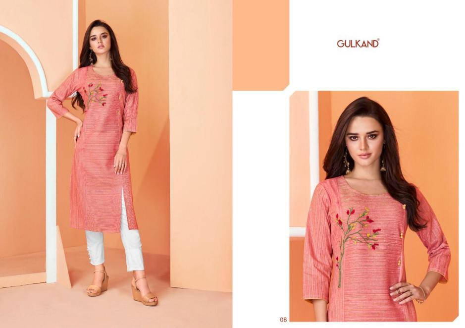 gulkand aasma colorful ready to wear kurtis at reasonable rate