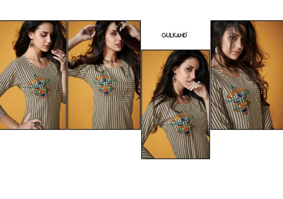 Gulkand designer kalam beautiful kurties with pants collection