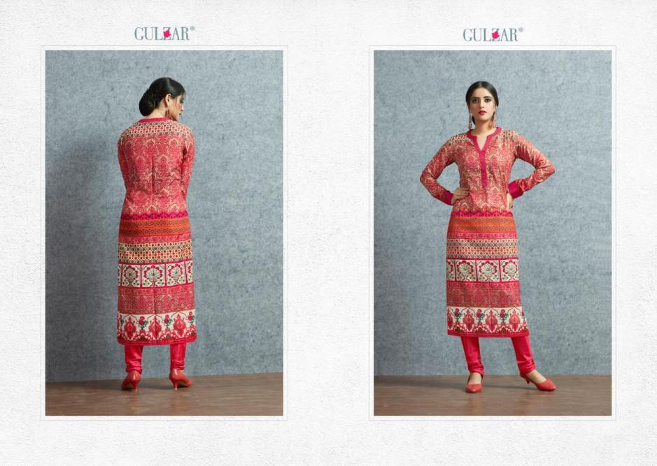 Gulzar print pitara summer wear cotton dress collection