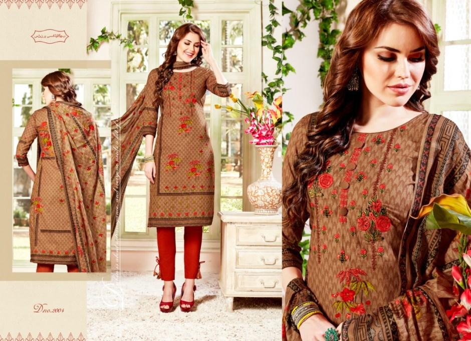 Hotline honeymoon vol 2 digital printed cotton salwar kameez collection