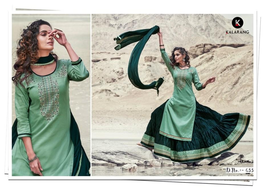 Kalarang blossom vol 5 jam silk salwar with lehenga at wholesale rate