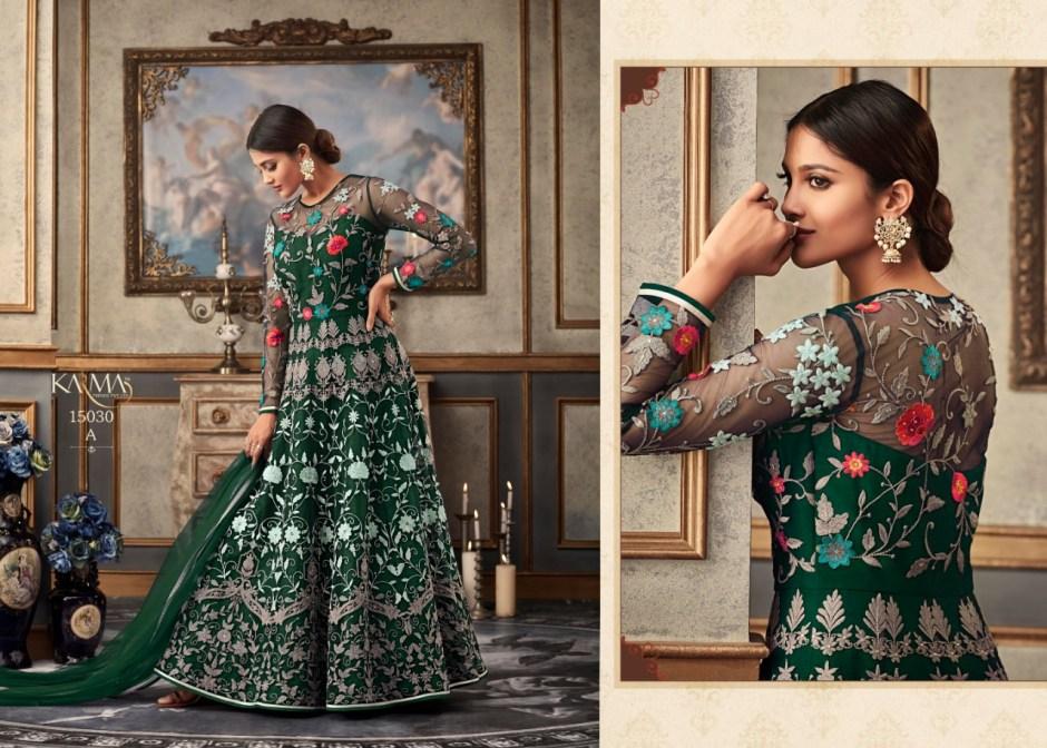 Karma trendz 15030 colourful hit design heavy embroidered anarkali lehanga catalog