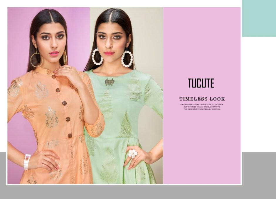 Karma trendz tucute 423 series kurties with plazzo collection dealer