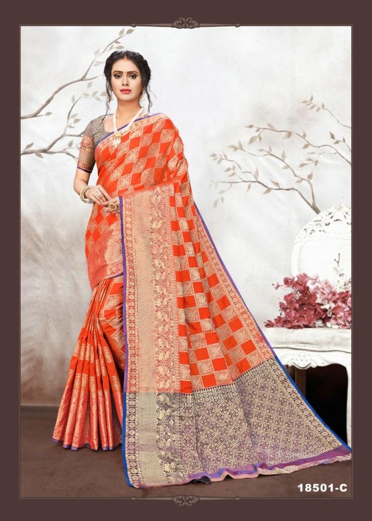 Krishnahari fashion samira party wear silk sarees collection