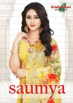 krishnahari saumya colorful fancy collection of sarees at reasonable rate