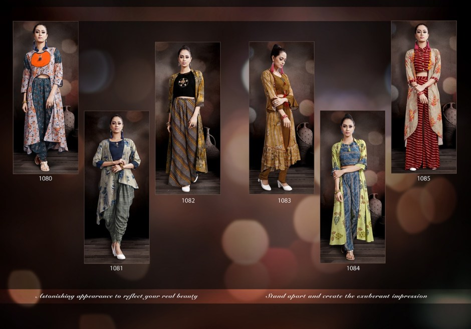 Mansi fashion heer party wear kurties with plazzo catalog