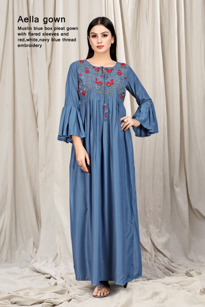 Mrigya clothing aella straight gown single piece