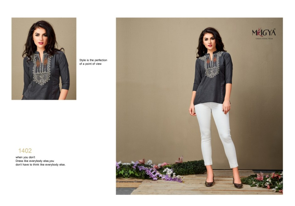mrigya yaavi colorful fancy collection of tops at reasonable ra