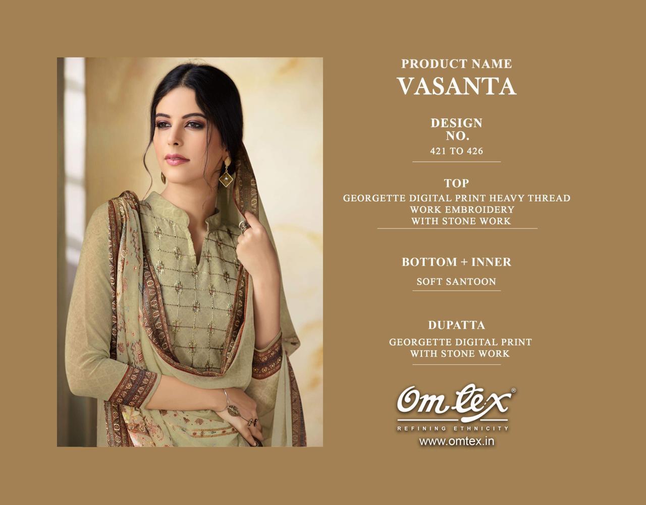 3e795f650b Omtex vasanta digital printed georgette salwar kameez collection dealer