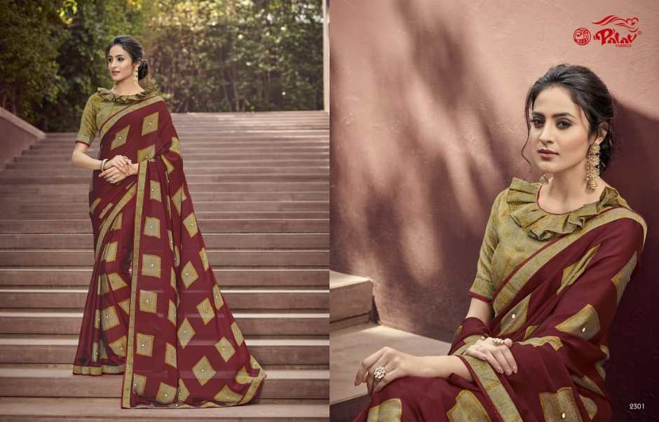 palav fabrics paarna vol 8 colorful cadual wear sarees catalog