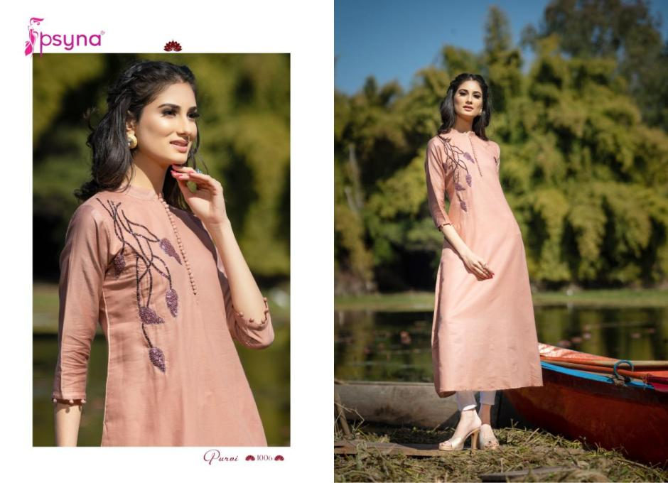 Psyna presents purvi long gown style kurtis ready to wear outfit