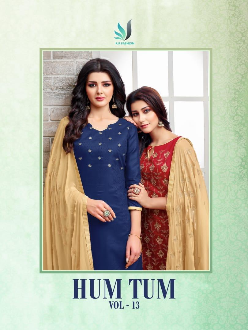 R r fashion hum tum 13 embroidered salwar kameez collection dealer
