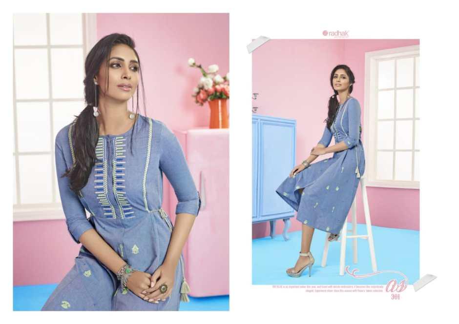 Radhak Fabrics beaulot vol 3 beautiful designer kurties collection