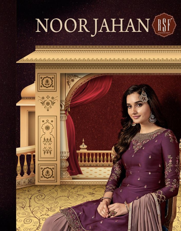 rsf noorjahan colorful designer collection of salwaar with sararas
