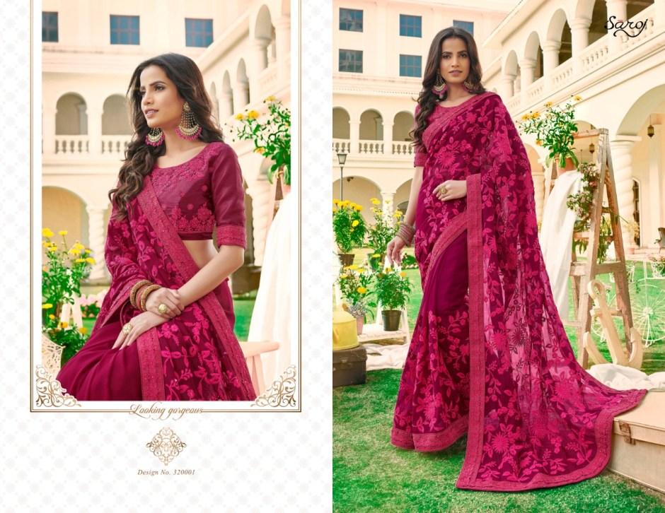 saroj chitrakala colorful fancy collection of sarees