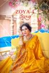 Saroj zoya vol 4 colourful work silk sarees collection dealer