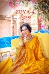 Saroj zoya vol 4 colourful work silk sarees collection dealer