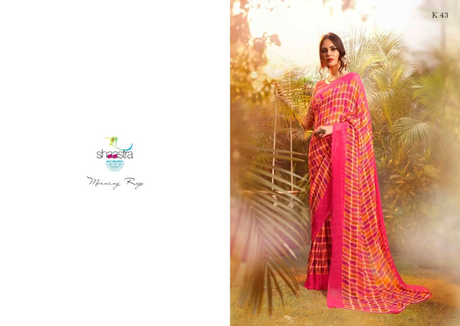 Shaastra suhane mausam vol 3 printed georgette saree at wholesale rate