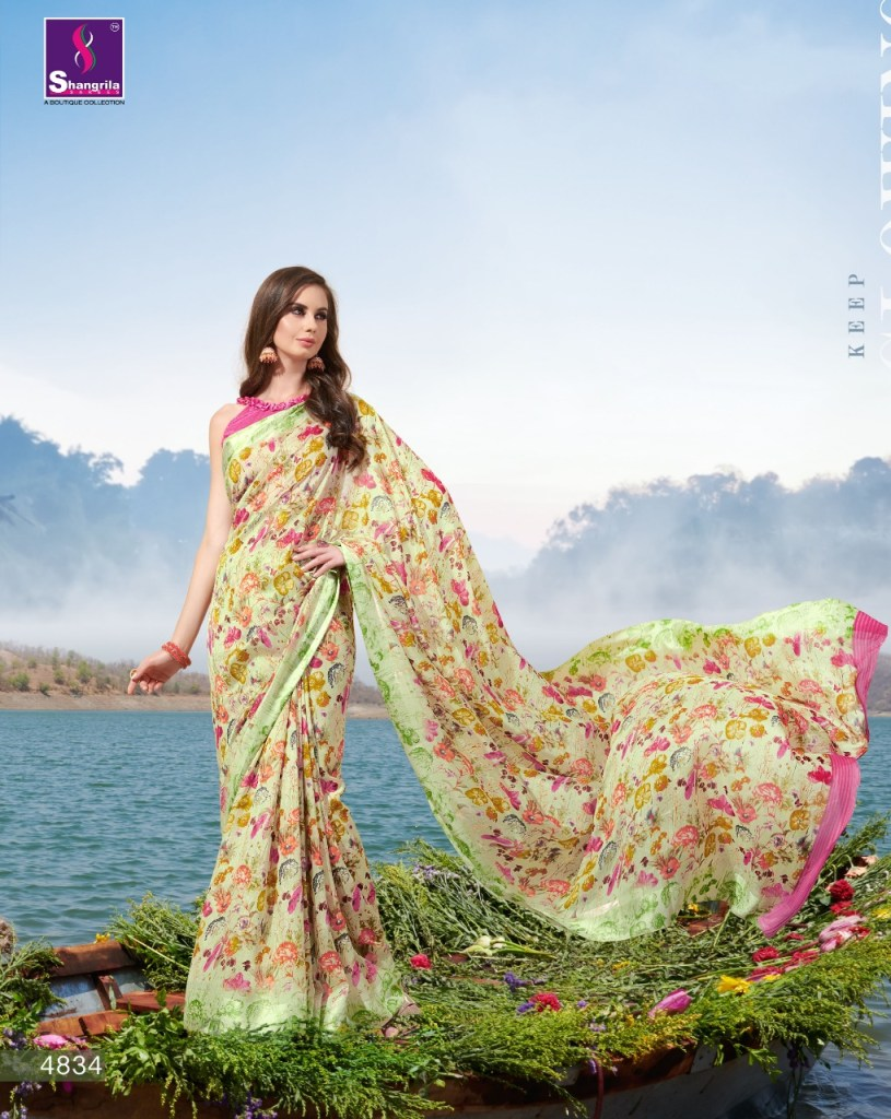 Shangrila kiyara cotton fancy indian sarees collection