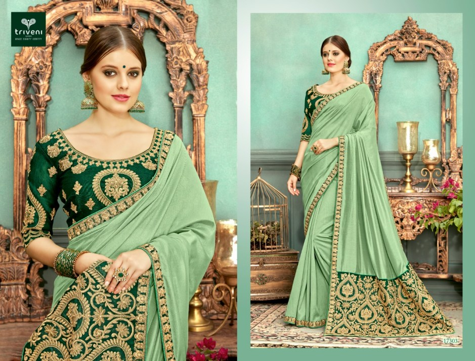 triveni farmaish colorful fancy collection of sarees at reasonable rate