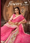triveni flowers colorful fancy collection of sarees at reasonable rate