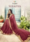Triveni suraiya Fashionable foil printed sarees collection