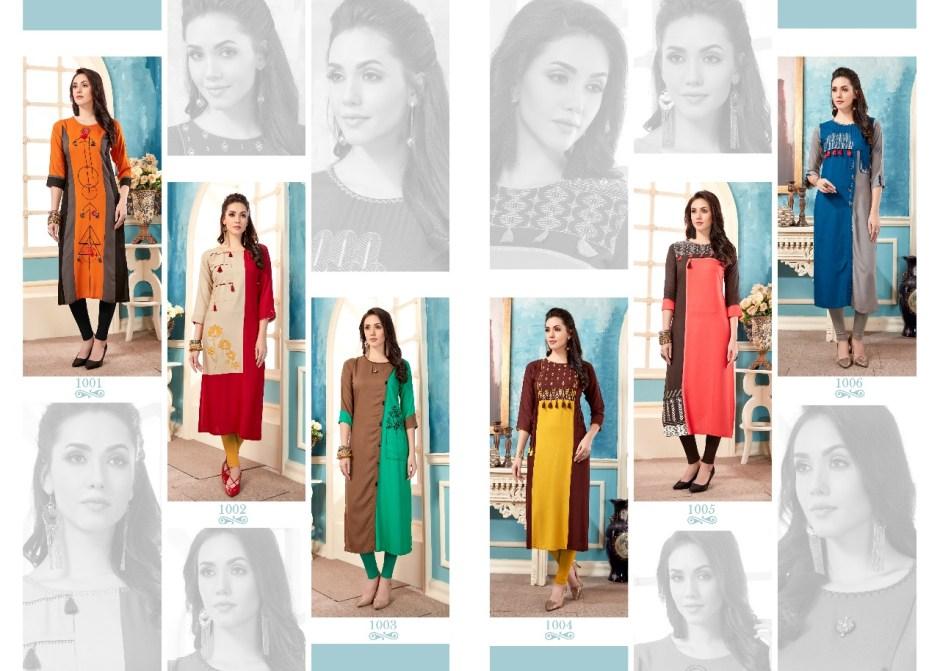 Tzu lifestyle celebration rayon kurties collection