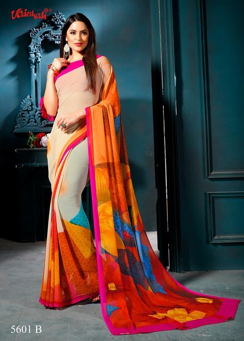 Vaishali fashion pure oppulence georgette Traditional sarees catalog