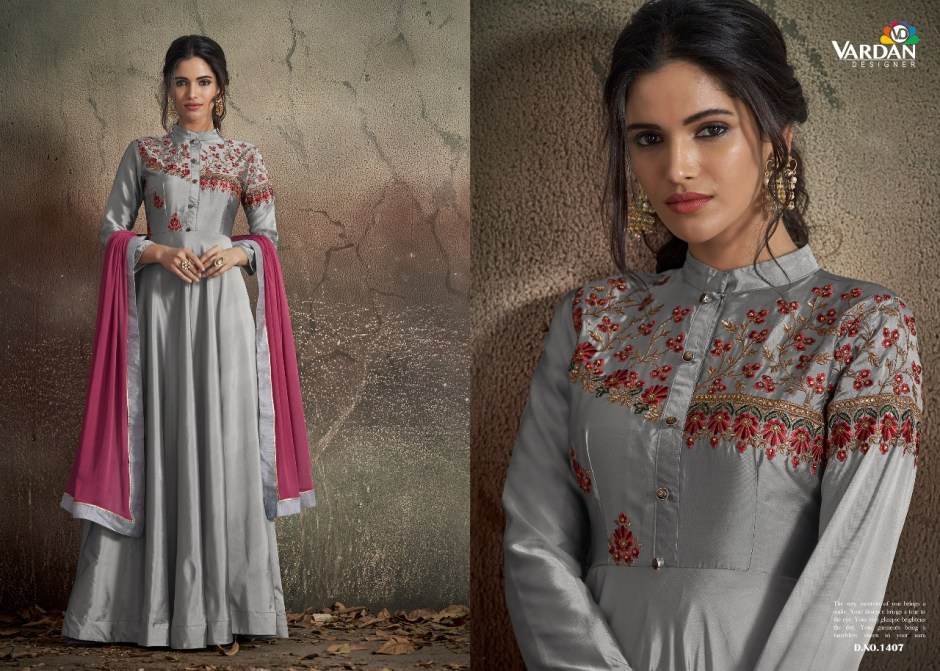 Vardan designer navya vol 14 party wear gown collection