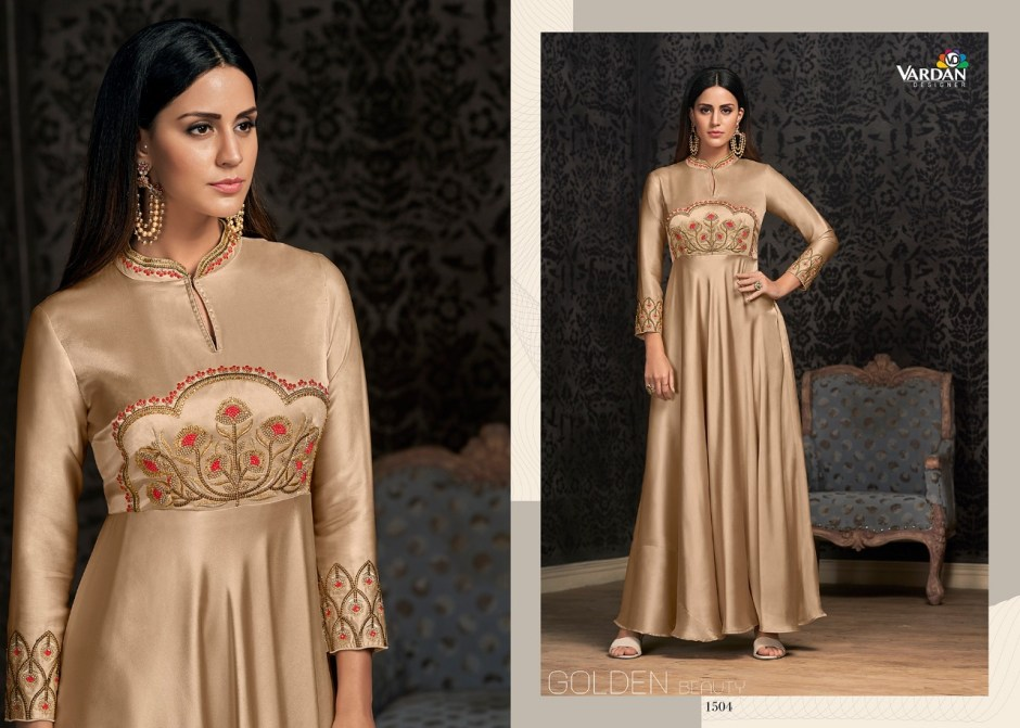 Vardan designer navya vol 15 ready to wear gown collection