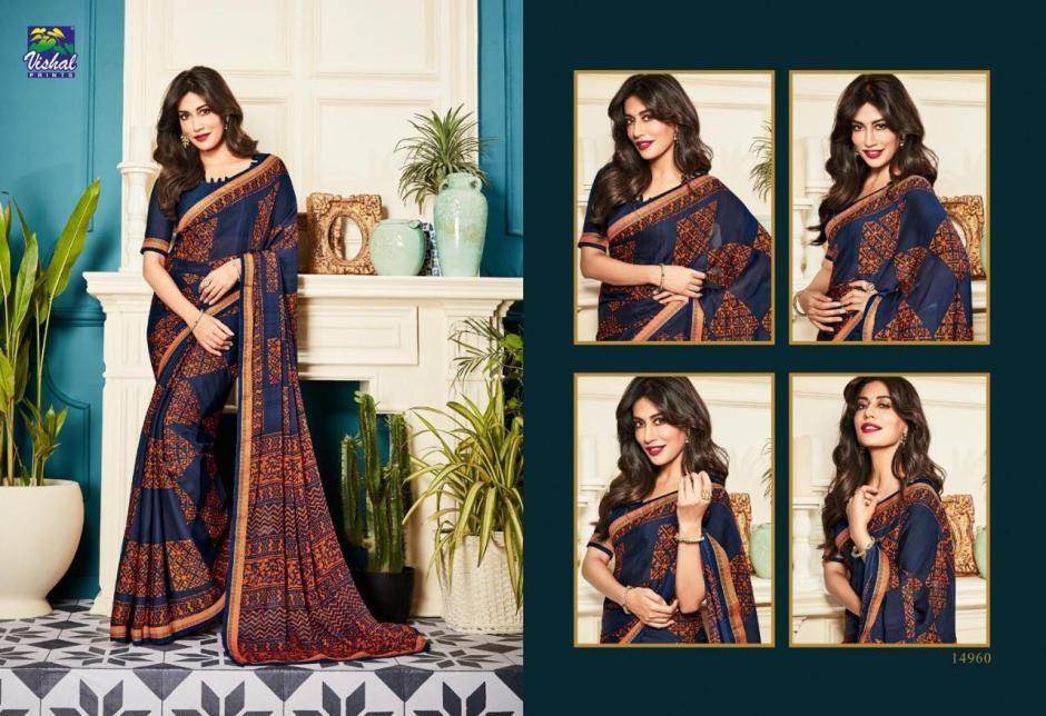 Vishal prints kaavya designer printed sarees collection