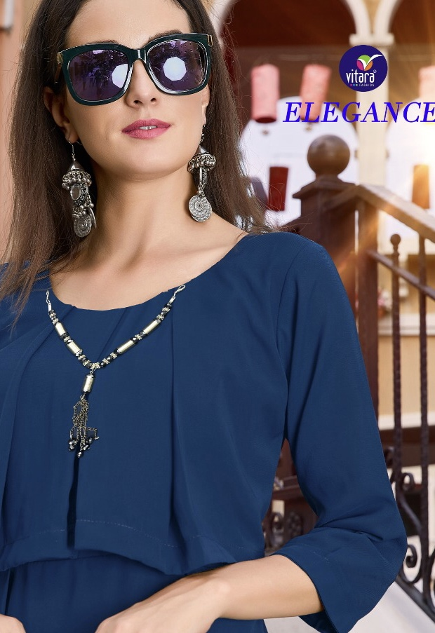 vitara fashion elegance colorful fancy collection of kurtis at reasonable rate