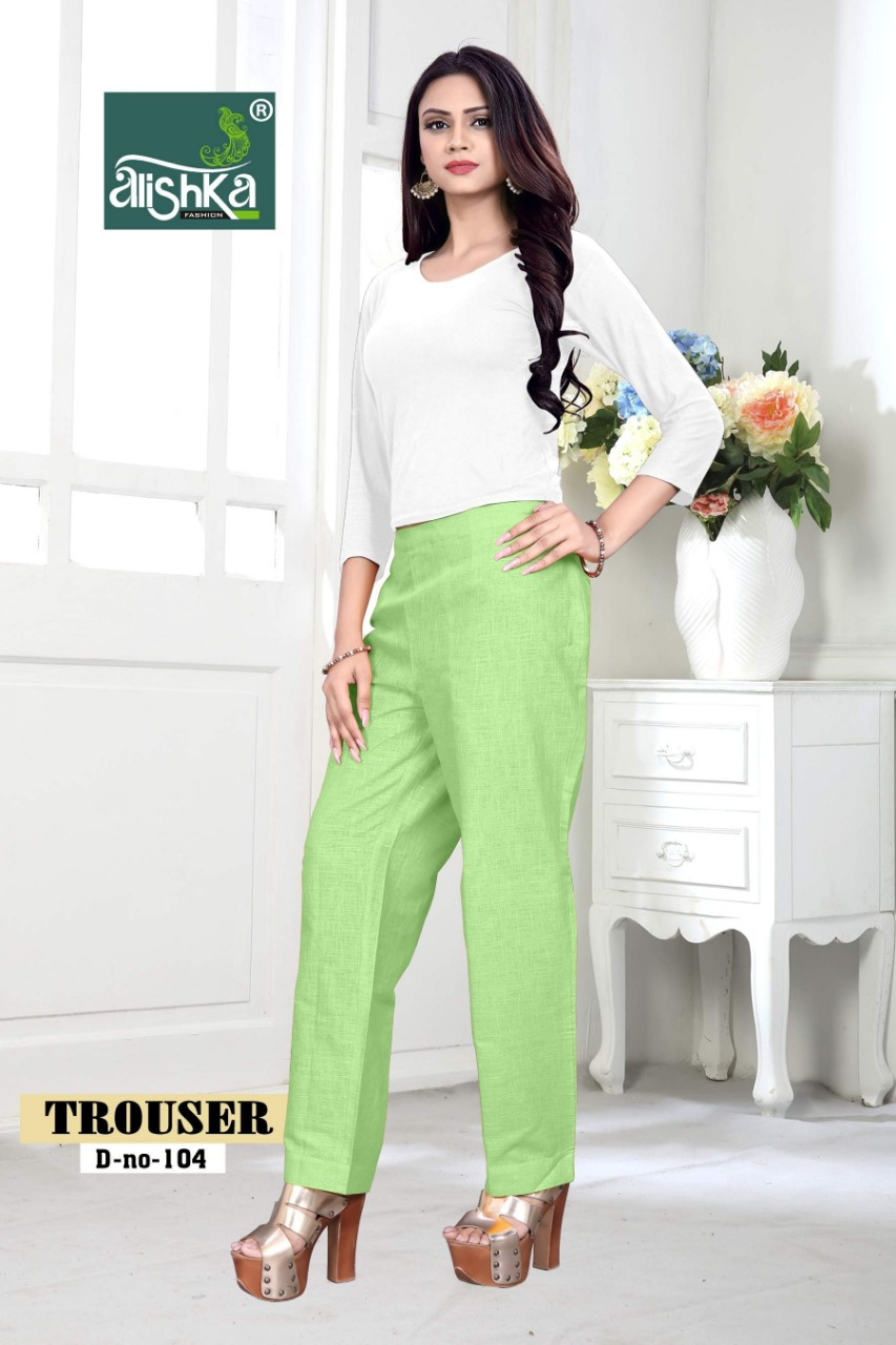 Alishka fashion trouser colourfull pant catalog