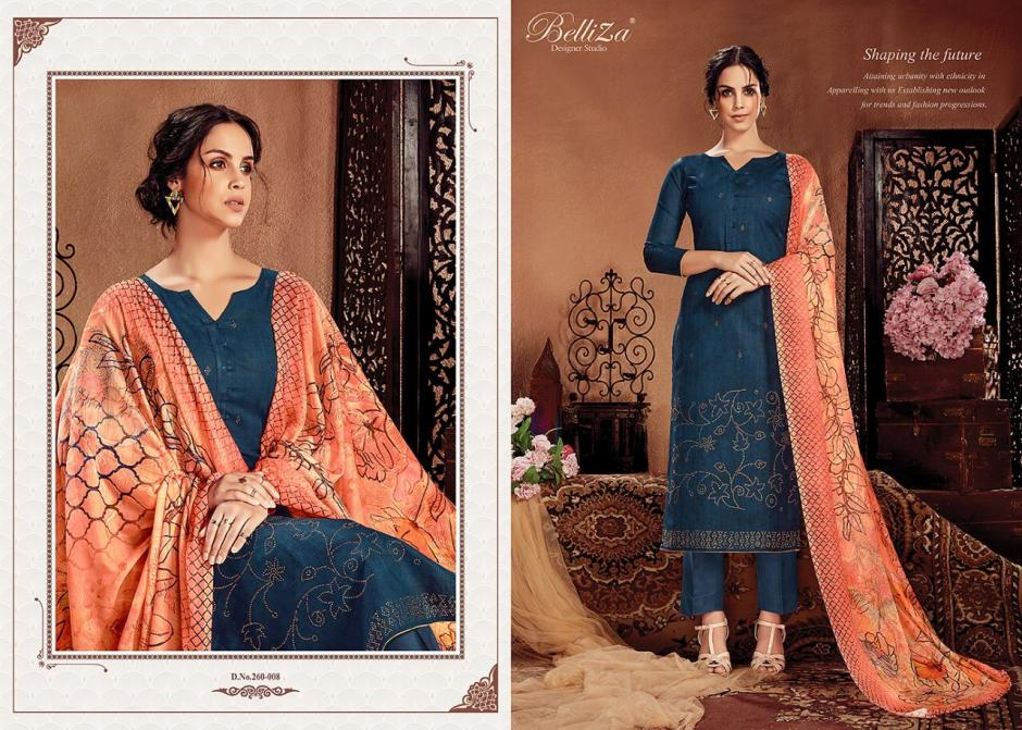 Belliza designer studio gemstone cotton printed salwar kameez collection at wholesale rate